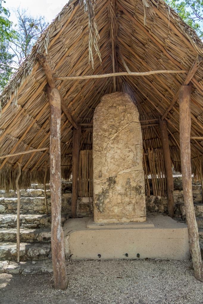 """Stor """"stelae"""" der skulle være den bedst bevarede i Coba."""