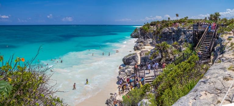 Tulums meget populære strand.